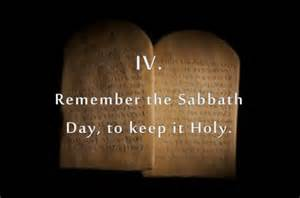 remember the sabbath fourth commandment